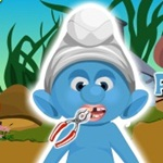 Play Baby Smurf Dentist