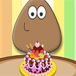 Pou Chocolate Cake